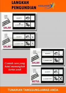 Poster Langkah Mengundi - Cara Memangkah Kertas Undi